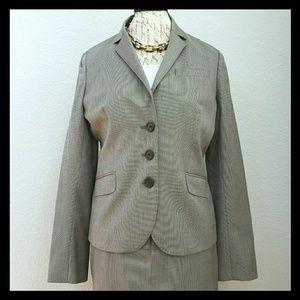 J. Crew Gray Mini-Check Suit Jacket